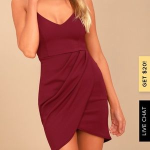 Forever Your Girl Wine Red Bodycon